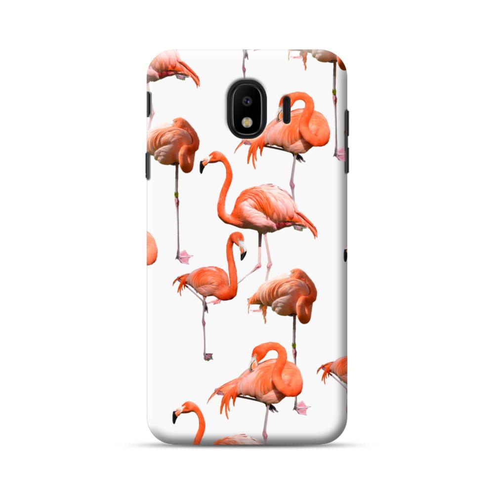 Flamingo Clipart Samsung Galaxy J4 2018 Case.