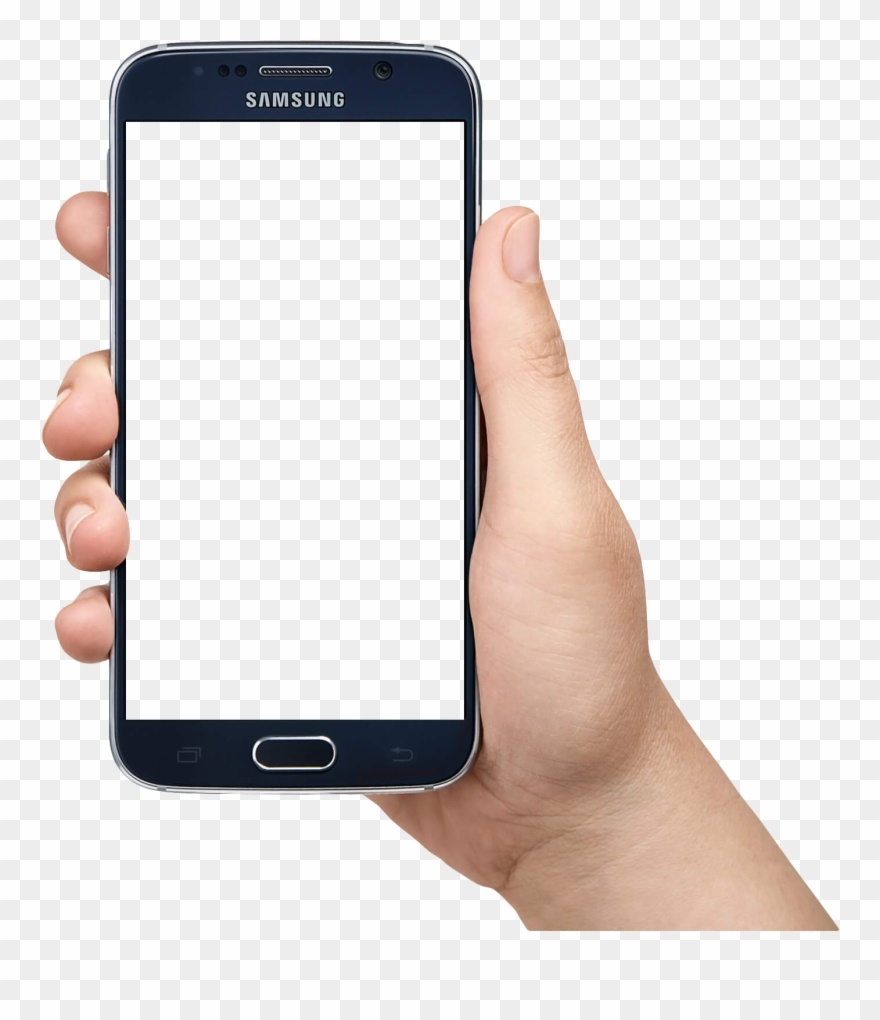 Samsung Mobile Phone Clipart Hand Holding.
