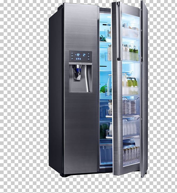 Internet Refrigerator Freezers Samsung Home Appliance PNG.