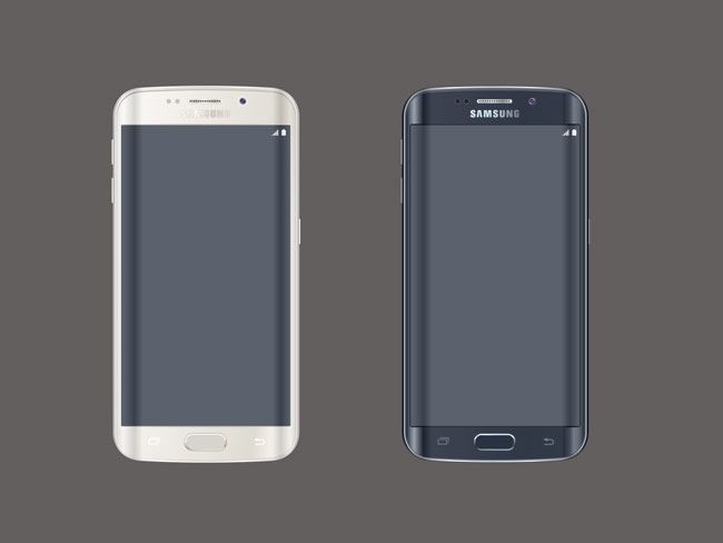 Samsung S6 Clipart.
