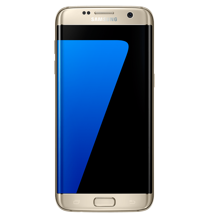 Samsung S7 Front View Mockup transparent PNG.