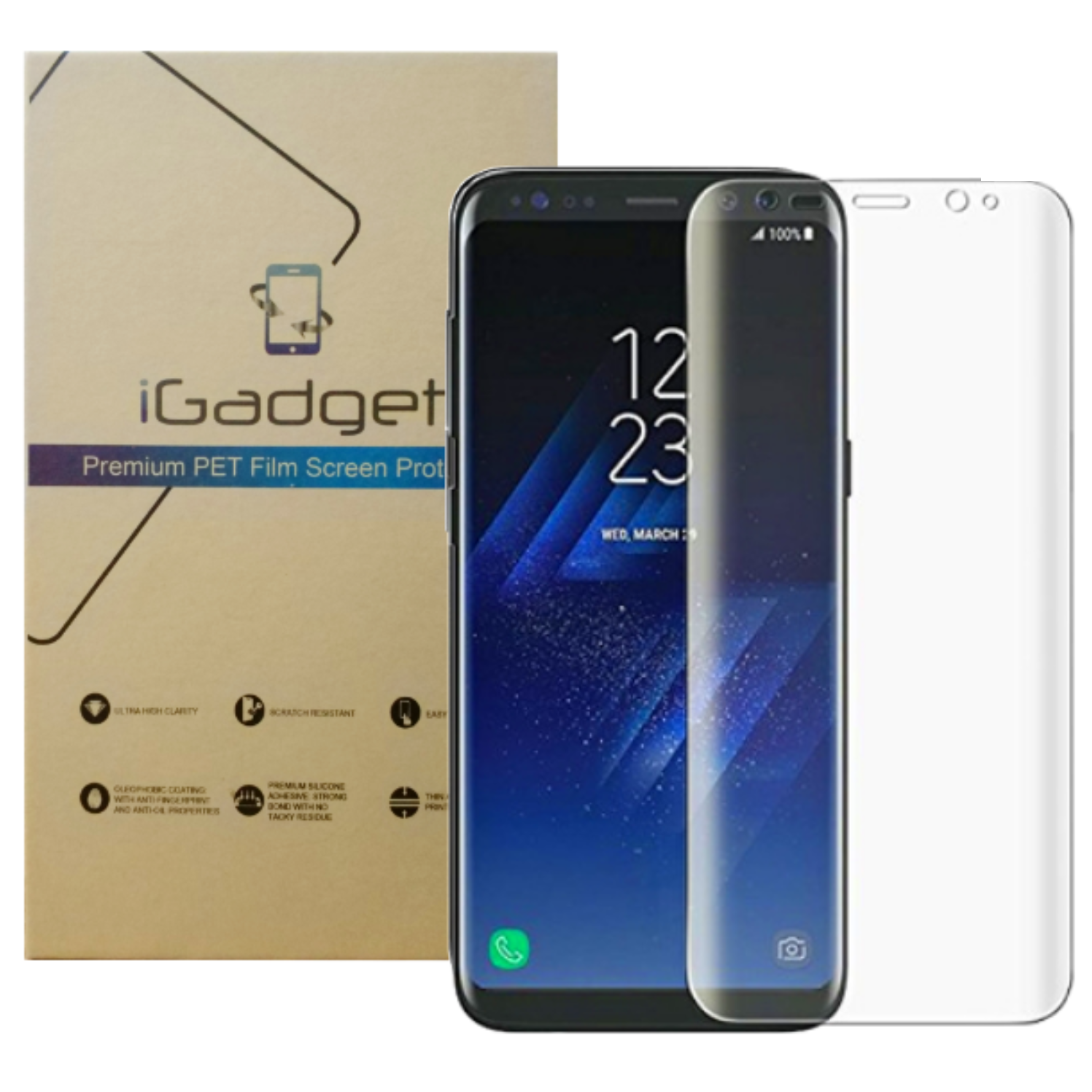 Samsung Galaxy S8 PET Film Screen Protector.