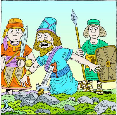 Image: Saul Falls on His Sword.