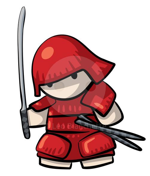 Samurai clip art.