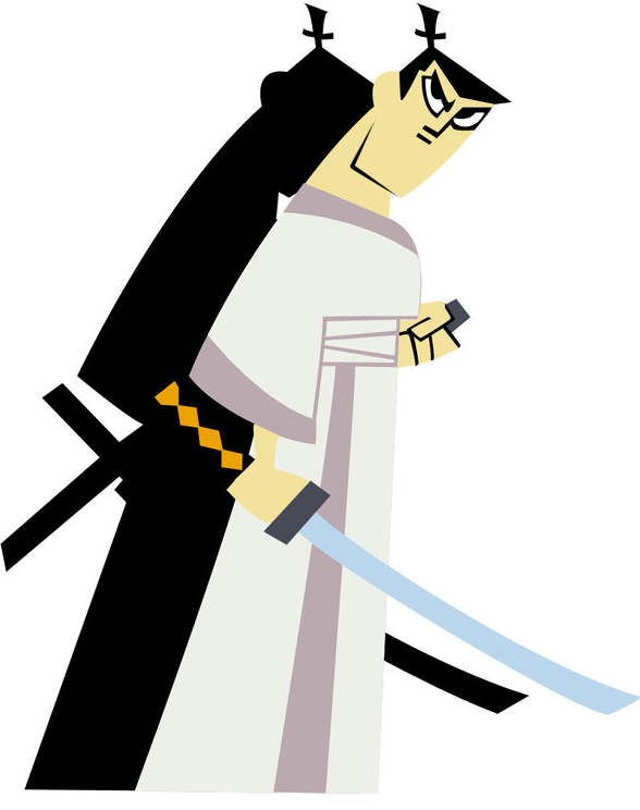 Samurai Jack vs. Makoto Shishio.