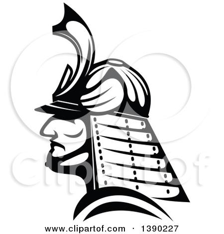 Clipart Faceless Samurai Warrior 2.