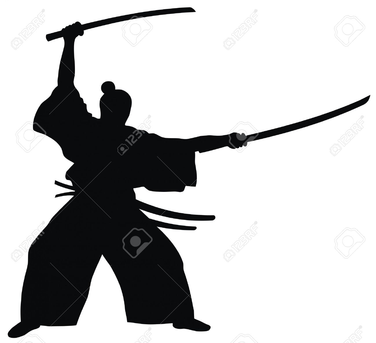 Abstract Vector Illustration Of Samurai Royalty Free Cliparts.
