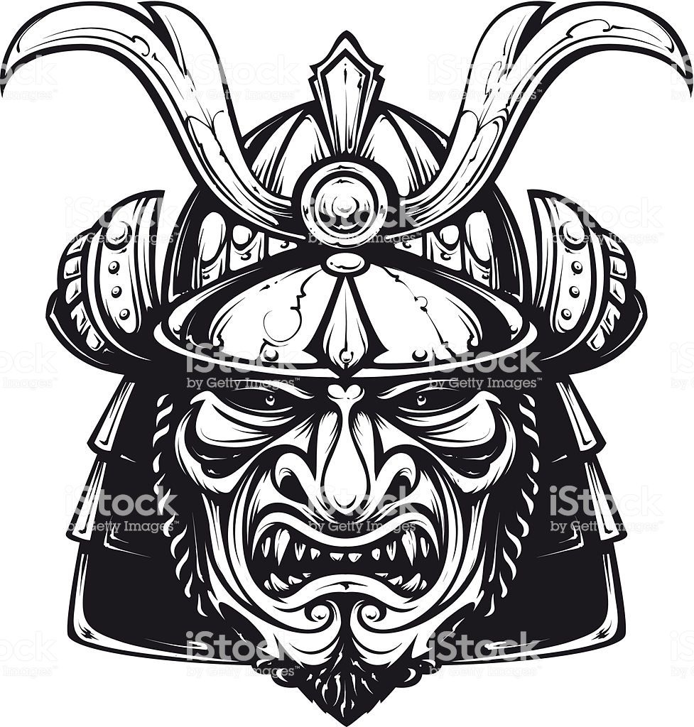Samurai mask clip.