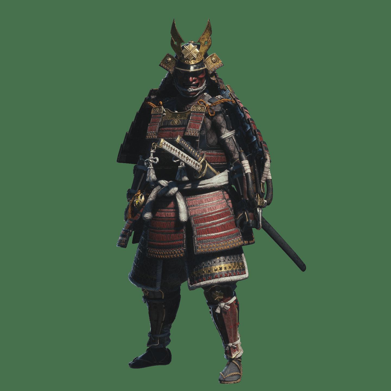 Frightening Samurai transparent PNG.