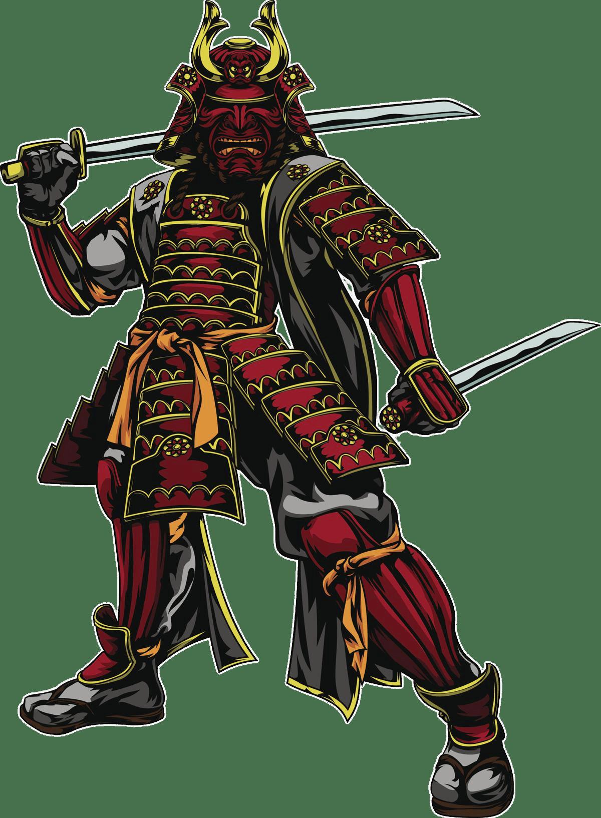 Japanese Samurai Warrior transparent PNG.