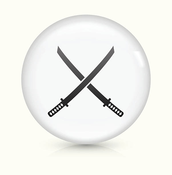 Samurai Sword Clip Art, Vector Images & Illustrations.
