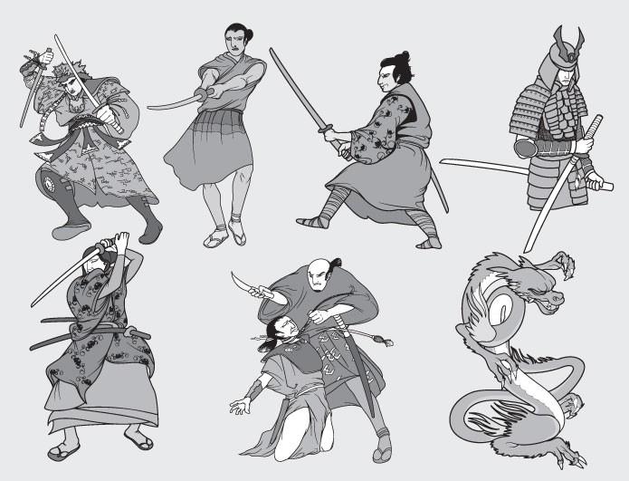 Samurai clipart free.