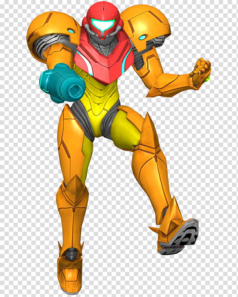 Samus Aran Render, orange robot illustration transparent.