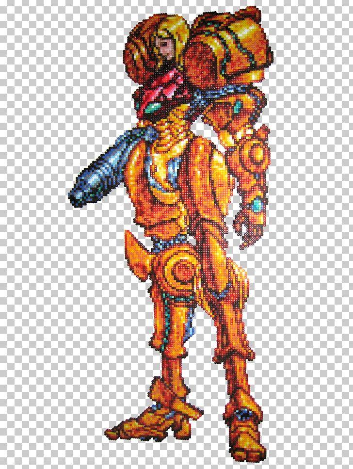 Metroid Prime Super Metroid Samus Aran Sprite Pixel Art PNG.