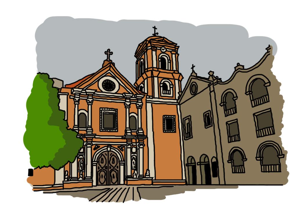 San Agustin Church Digital Drawing.