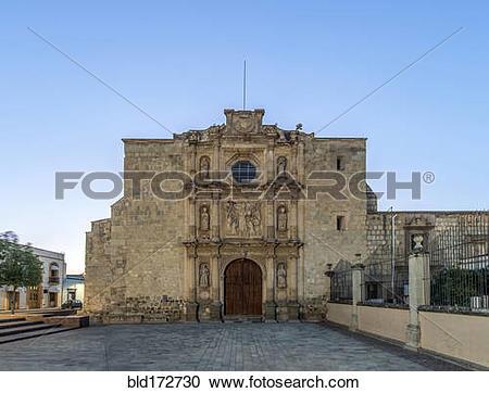 Stock Photography of San Agustin Church under clear blue sky.