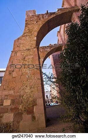 Stock Photography of Ruins of a church, Ex Templo De San Agustin.