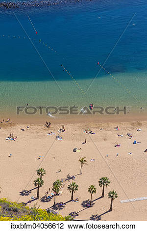 "Stock Photo of ""Beach Playa de Las Teresitas, San Andres, Santa."