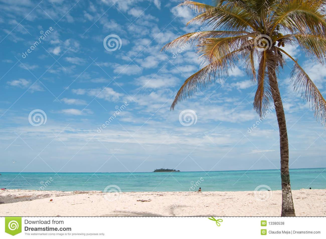 Beach Landscape, San Andres Island Royalty Free Stock Photos.