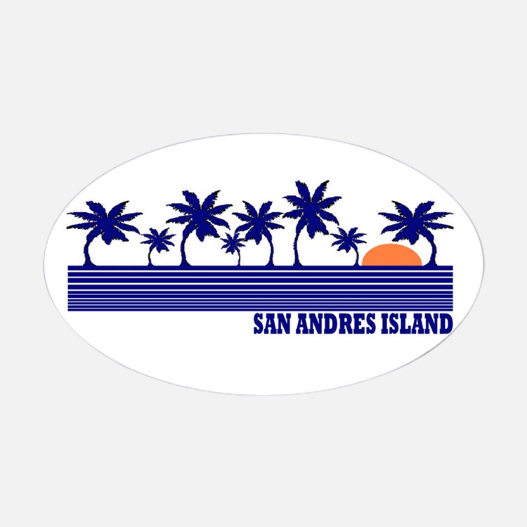San Andres Island Colombia Stickers.