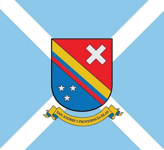Bandera y escudo del Archipiélago de San Andres, Providencia y.
