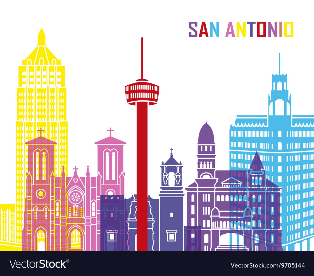 San Antonio skyline pop.