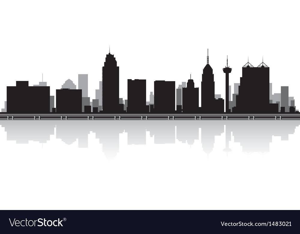 San Antonio USA city skyline silhouette vector image.