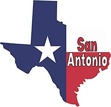 Amazon.com: StickerTalk 5 x 5 San Antonio Texas Flag Car.
