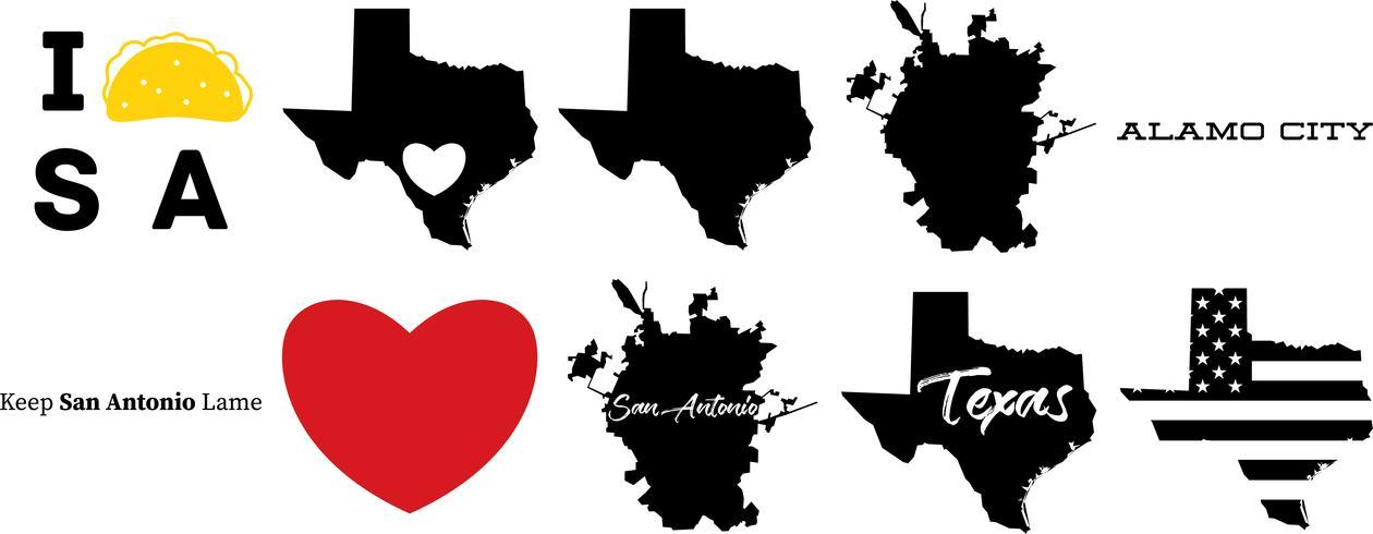 san antonio texas US map.