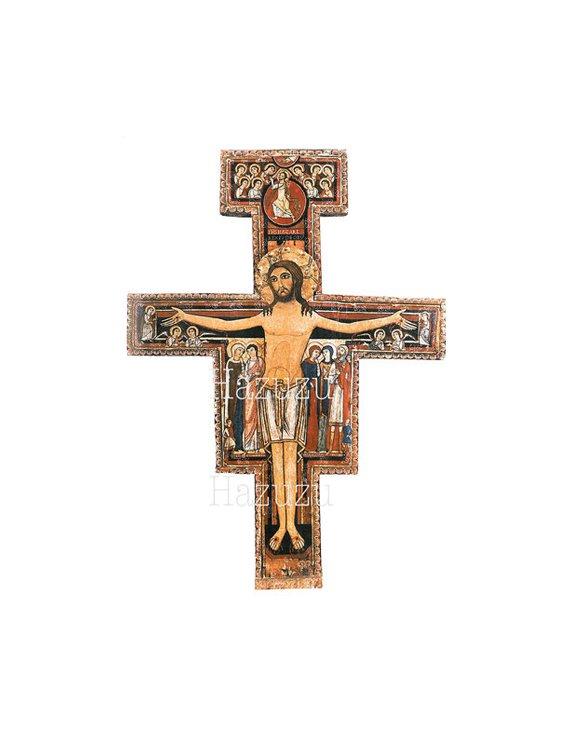 St Francis Cross PNG Christian San Damia #166002.