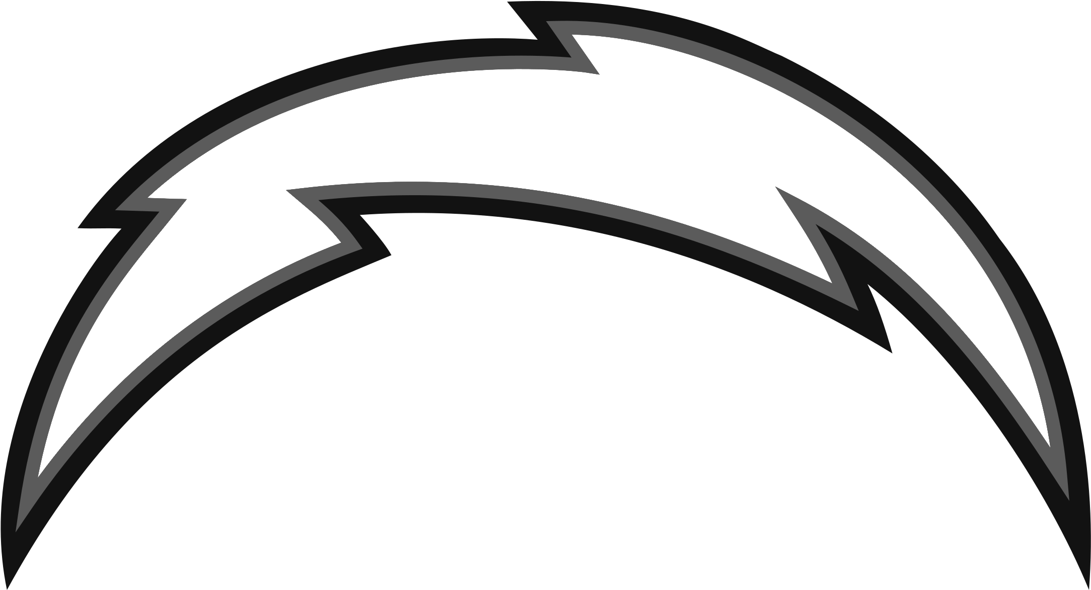Los Angeles Chargers Logo Black And White.