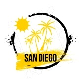 stamp san Diego clipart.