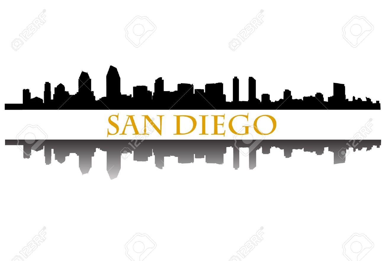 San Diego Skyline Clip Art.