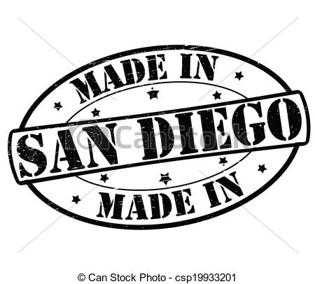 Vector Clipart of Made in San Diego.
