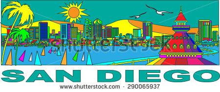 San Diego Stock Vector Illustration 290065937 : Shutterstock.
