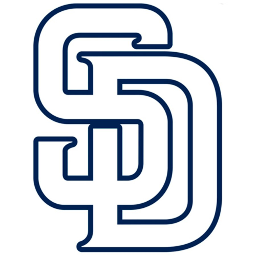 San Diego Padres Fathead Logo Giant Removable Decal.