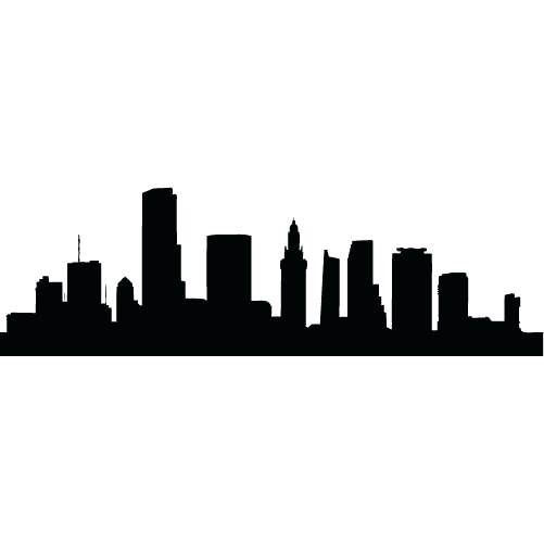 City Skyline Silhouette Clipart.