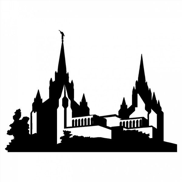 Lds Temple Silhouette.