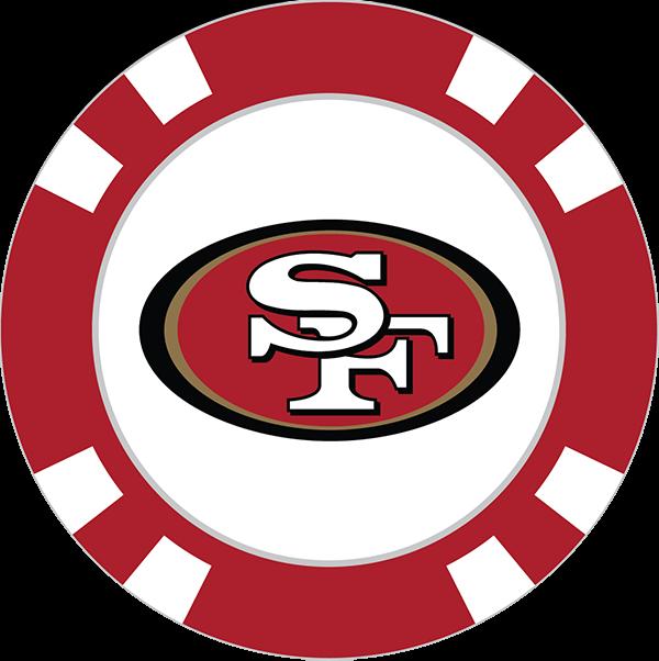 San Francisco 49ers Poker Chip Ball Marker.