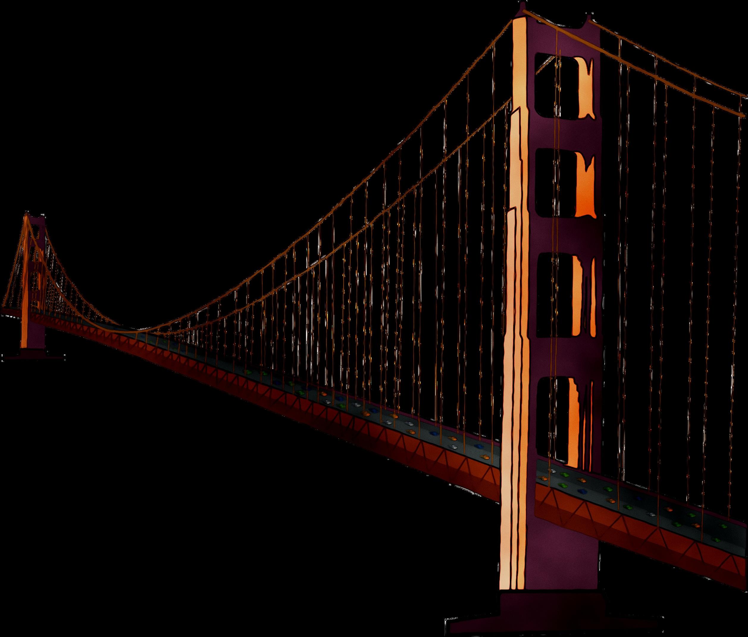 Golden Gate Bridge Suspension bridge Image Clip art.