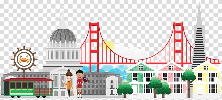 San Francisco Cartoon City , san francisco skyline.
