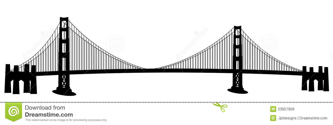 San Francisco Golden Gate Bridge Clip Art Royalty Free Stock.