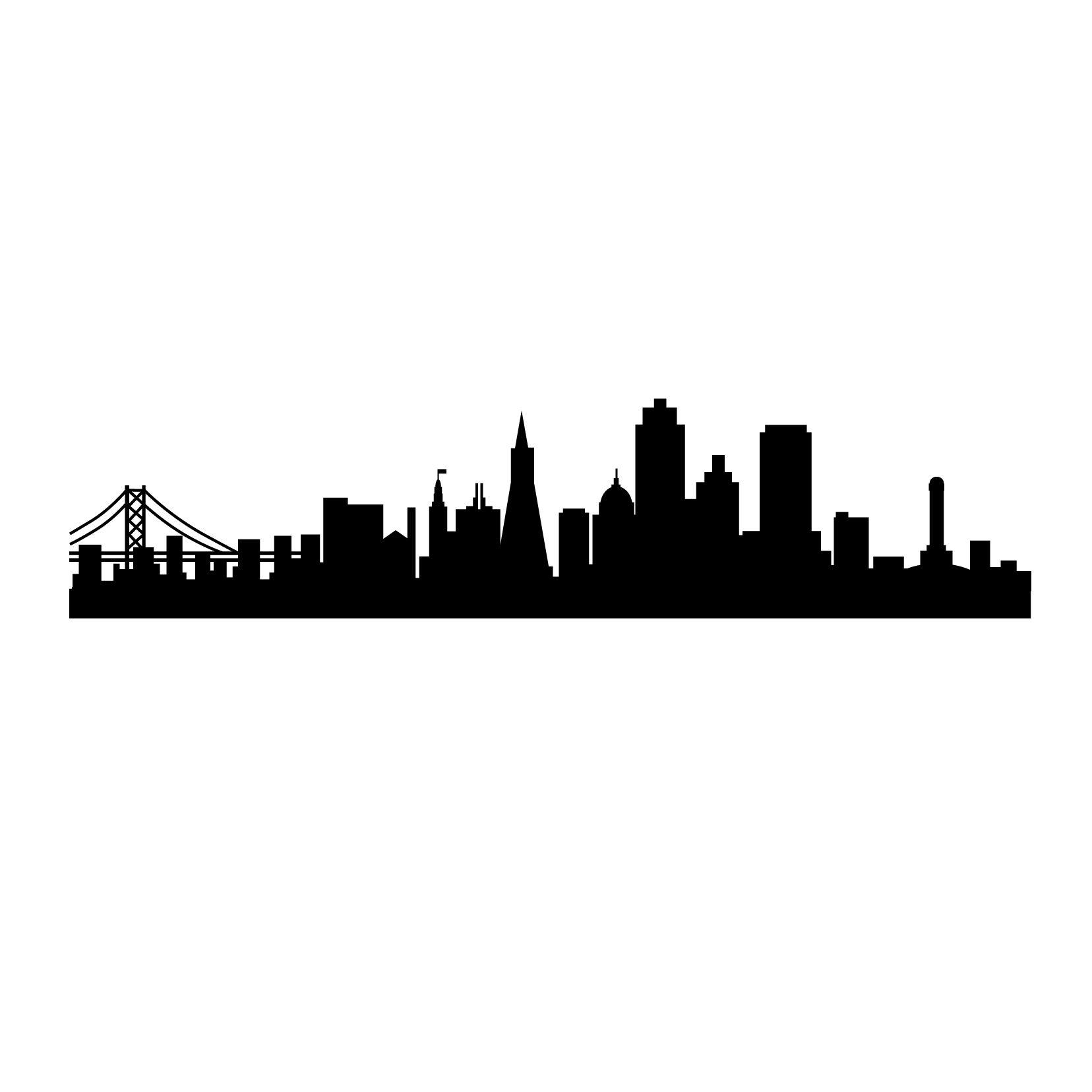 San Francisco Skyline Silhouette.
