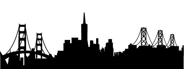 Sf skyline silhouette clipart images gallery for free.