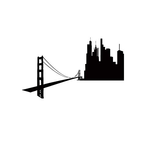 Amazon.com: Wall Decals San Francisco SF City Skyline.