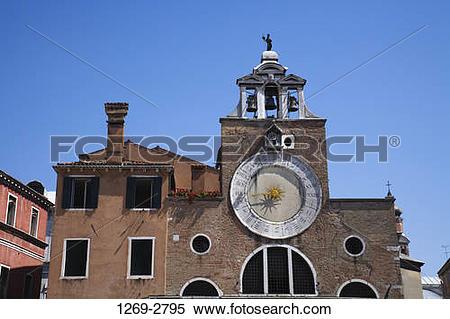 Stock Image of Low angle view of a church, San Giacomo di Rialto.