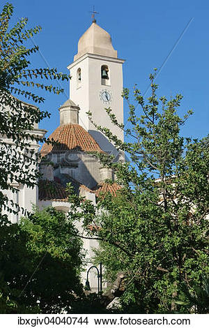 """Stock Photo of """"Bell tower of the parish church of San Giacomo."""