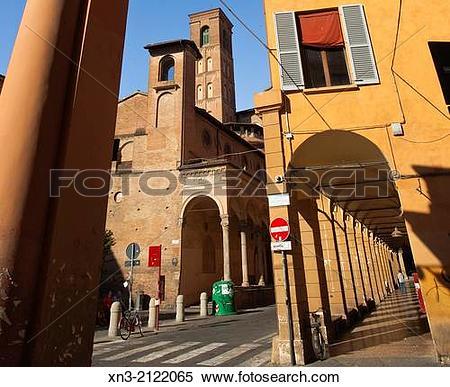 Stock Image of Basilica of San Giacomo Maggiore from Via Zamboni.