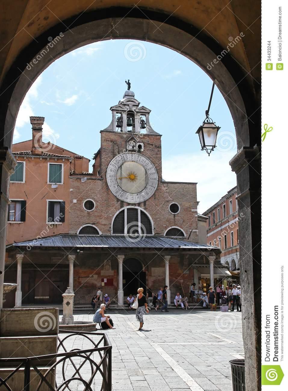 San Giacomo Di Rialto Editorial Stock Image.