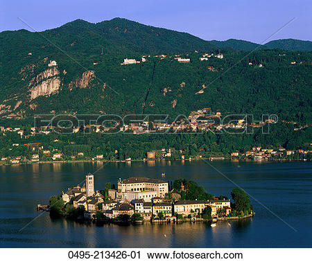 Stock Photography of Italy, Lake Orta & San Giulio Island 0495.